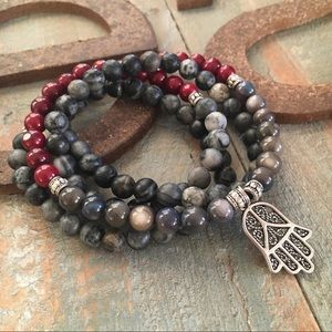 Jewelry - Grounding 108 bead mala inspired wrap or necklace